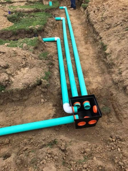 With the help of our excavating team, we can help you install pipes and more.